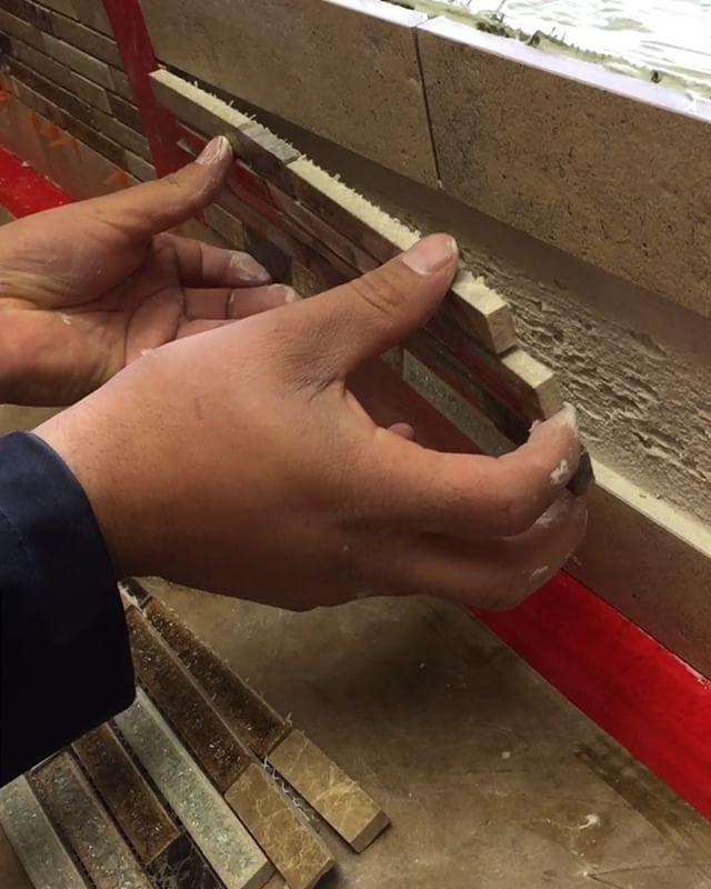 Jig it up when installing #glassmosaics 😎👍🏼🔥 #protip #jig . . . . . . . .  #craftsmen #montereyca #carmel #craftsmanship #kitchendesign #kitchenremodel #glassmosaic #mosaic #tiles #tile #stone #glassart #tileartist #tiledesign #tilelife #custom #home #construction #contractor #designer #design #interiordesign #floors #hdtv #diy #uk #australia #montereylocals - posted by American Tile Company https://www.instagram.com/american_tile_company_ - See more of Monterey, CA at…