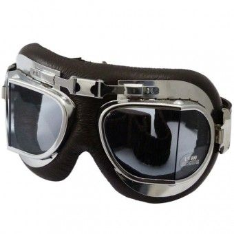 Masque Moto Torx Air Force Marron Chrome - Incolore