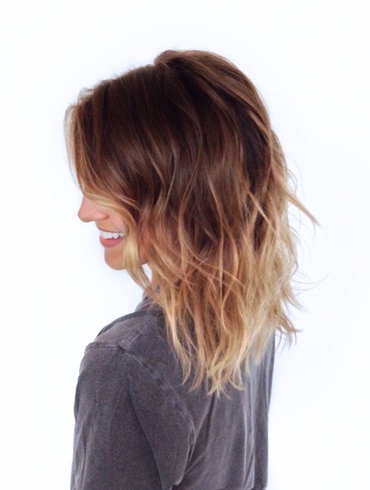Blonde ombre. Beach waves.