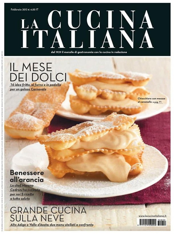 La Cucina Italiana - Italian Cooking - February 2013 English | PDF | 140 pages | 101.77 MB Each year, over 1,000 new recipes for you to try in the kitchen preparing. Insights, ideas and suggestions for fun in the kitchen and prepare food for sure success. Italian cuisine, recently renewed in graphics, it also offers sections ranging from culinary school nutrition education of children, from recipes to new trends.