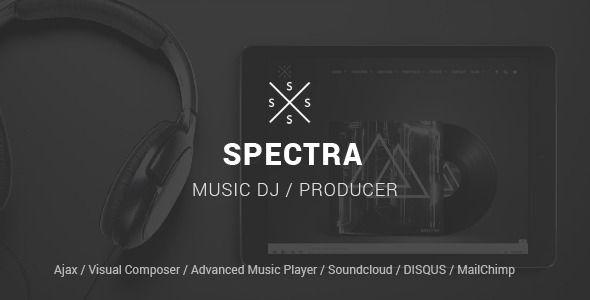 Spectra Responsive WordPress Music Theme