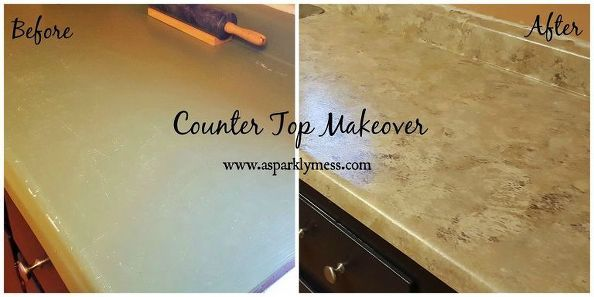 faux facile comptoir en granit, les comptoirs, bricolage, cuisine design, peinture