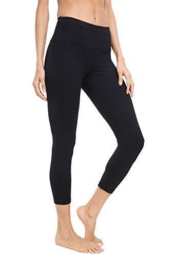 f43774e472a089 Queenie Ke Women Leggings Yoga Capris Shorts Tummy Control Waist Pocket Run  Full-On Tight