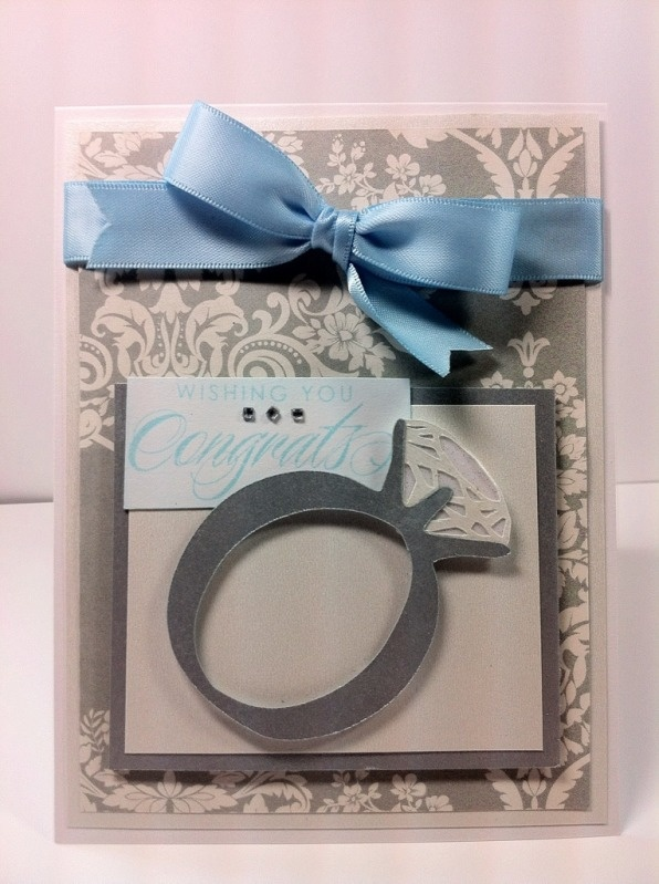 Love the ring,  bridal shower cart...nice job...Shower Ideas, 58 Tags, Cards Idease Scrapbook, Cards Makin, Invitations Ideas, Cards Ideas Scrapbook, Shower Cards, Bridal Shower Invitations, Bridal Showers