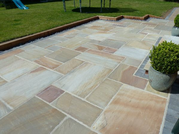 sandstone edged with sleepers