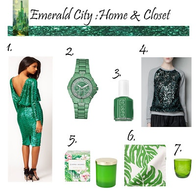 Check my post on emerald, pantone color of the year, on http://upintheairstyle.blogspot.com.es