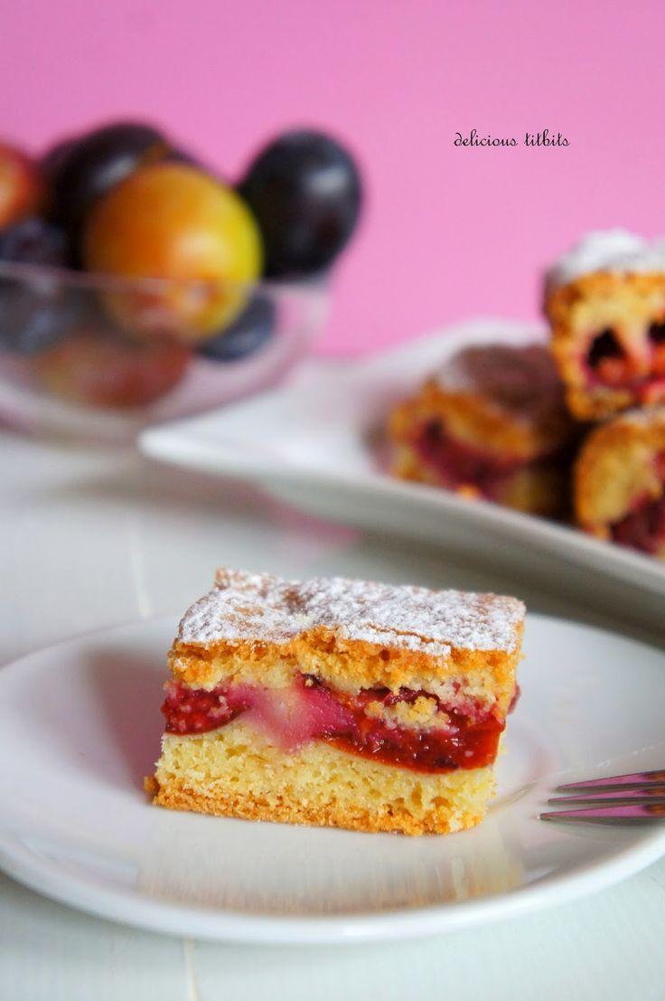 Delicious Titbits: Ciasto ze śliwkami