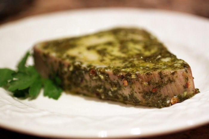 Baked Tuna with Chimichurri Marinade - The Food Lovers Kitchen