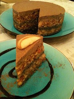 Almás- mákos nyers torta, Raw apple and poppy seed cake: ~ Nyers konyha
