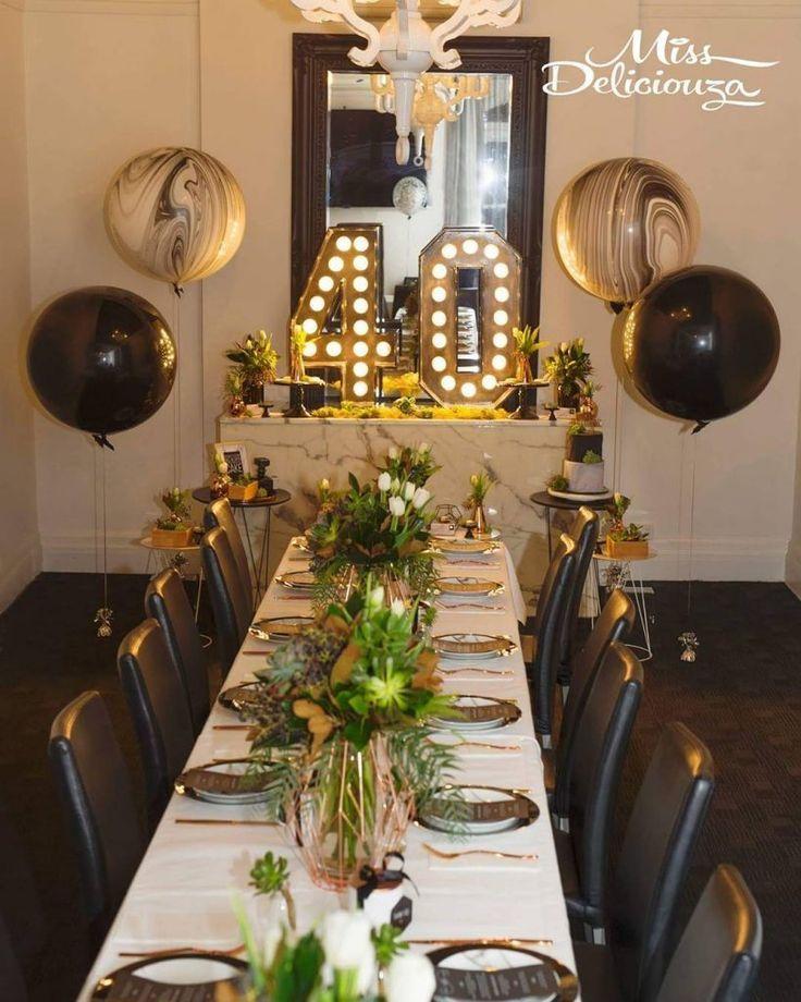 Ideen Zum Dekorieren Von 40 Frauengeburtstag 40 Jahriger Frauengeb 40th Birthday Party Decorations Birthday Party Decorations For Adults Birthday Party Tables