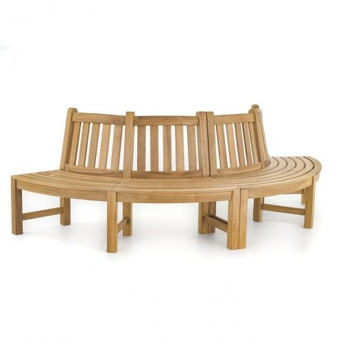 Westminster Teak Tree Trunk Bench - Surrounds Tree - Westminster Teak Outdoor Furniture