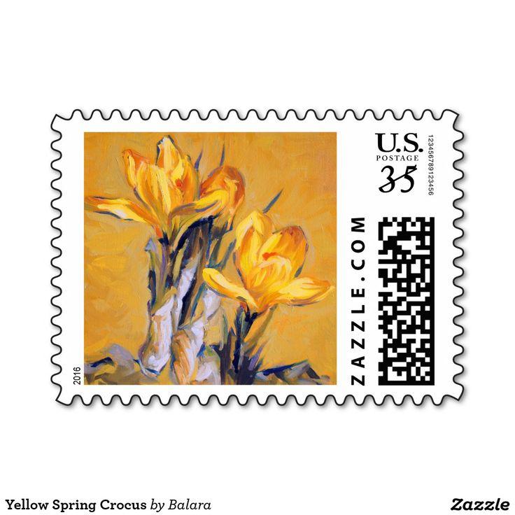 Yellow Spring Crocus Postage