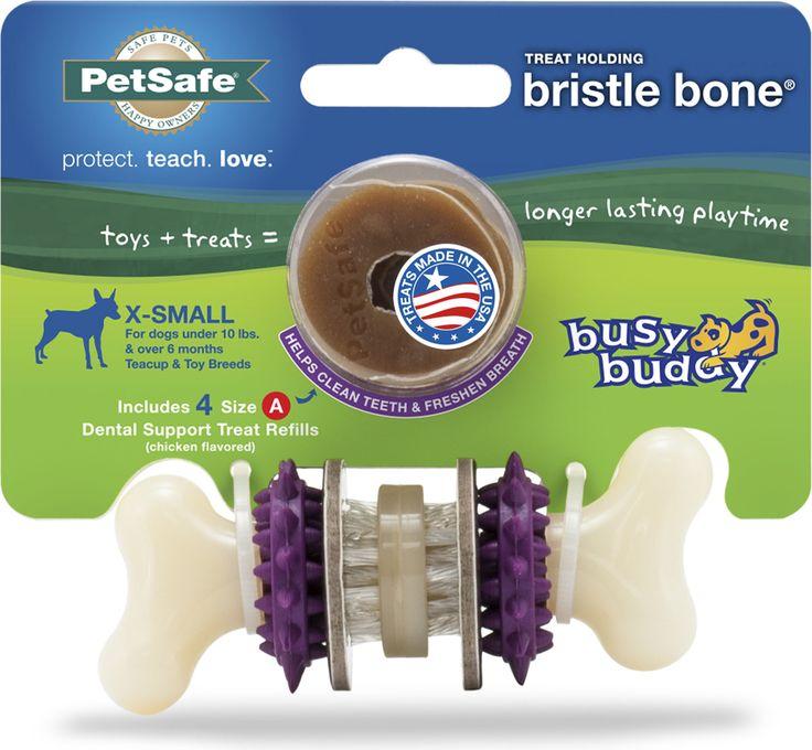 BUSY BUDY BRISTLE BONE WITH TREAT RINGS DOG CHEW