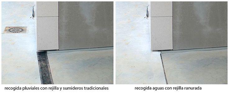 Comparativa-rejillas-saneamiento. Ventajas de las rejillas ranuradas en la recogida de aguas pluviales. Tecnología | AD+ arquitectura
