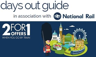 2 for 1 Tickets when you travel with National Rail
