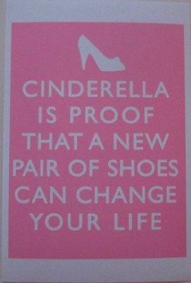 I think in today´s world her shoes would have been made of pure Swarovski crystals!