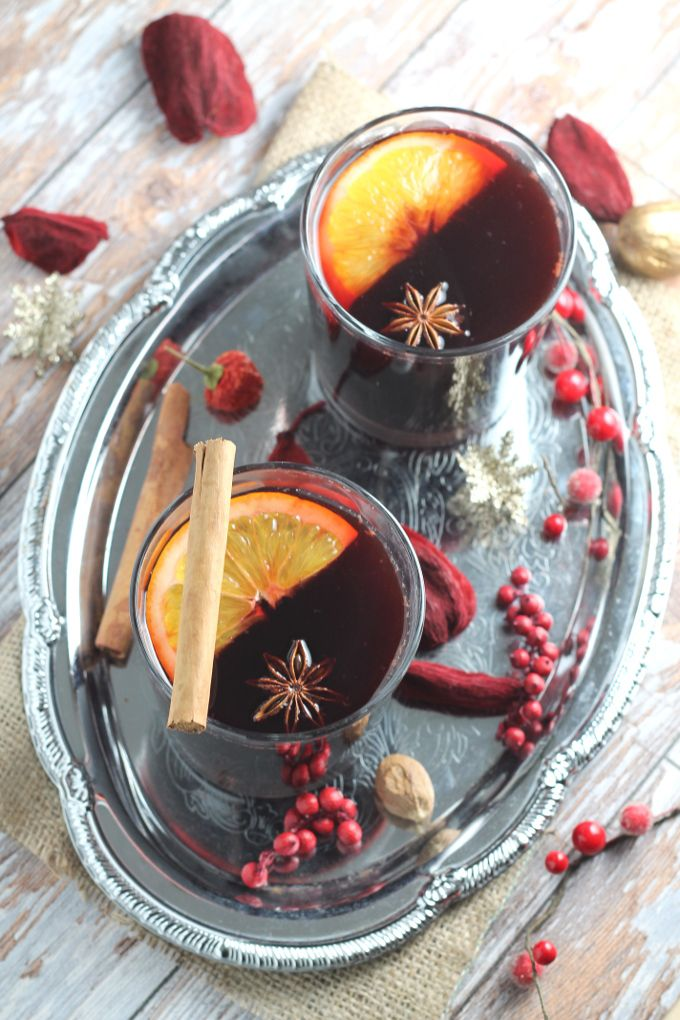 Homemade Mulled Wine Syrup. A healthy mulling syrup made with coconut sugar rather than refined white sugar. You'll never buy store-bought syrup again!
