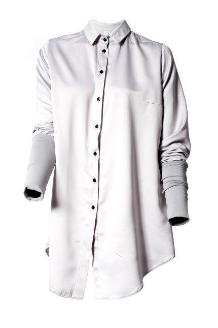Jeżeli znudziły Wam się standardowe koszule zajrzyjcie do #BoutiqueLaMode.com. Oversizowa koszula z różowym karczkiem, Magda Hasiak, 320zł