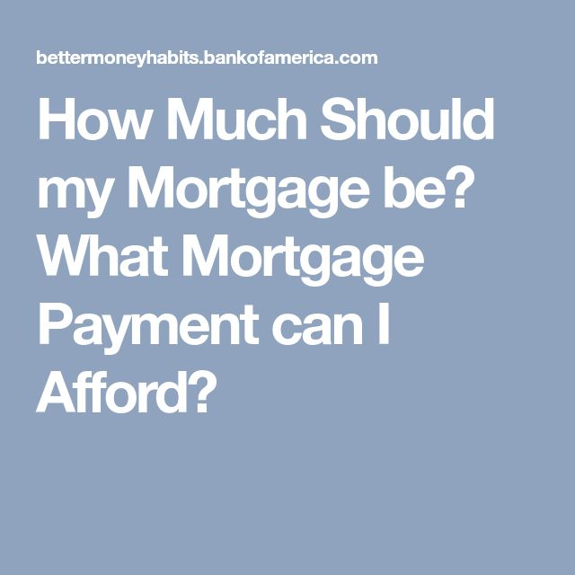 How Much Should my Mortgage be? What Mortgage Payment can I Afford?