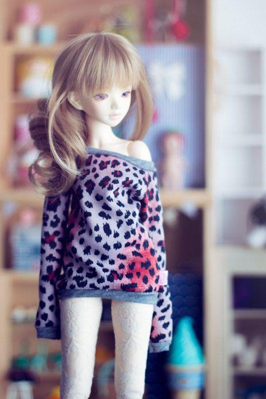 Urban Cat sweater for MSD size bjd dolls Unoa by sugardollshop, $18.00
