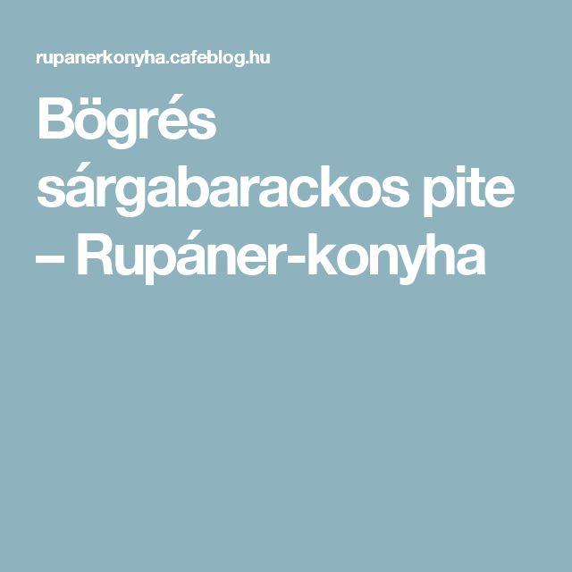Bögrés sárgabarackos pite – Rupáner-konyha