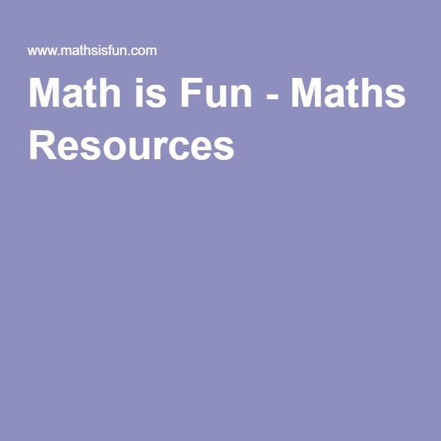 Math is Fun - Maths Resources