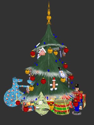 FREE CYBER-GREETING with Animated Christmas Theme - Toon Christmas Elves Dancing