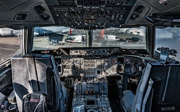 Download Wallpapers Cabin Boeing Kc 135 Stratotanker Aircraft