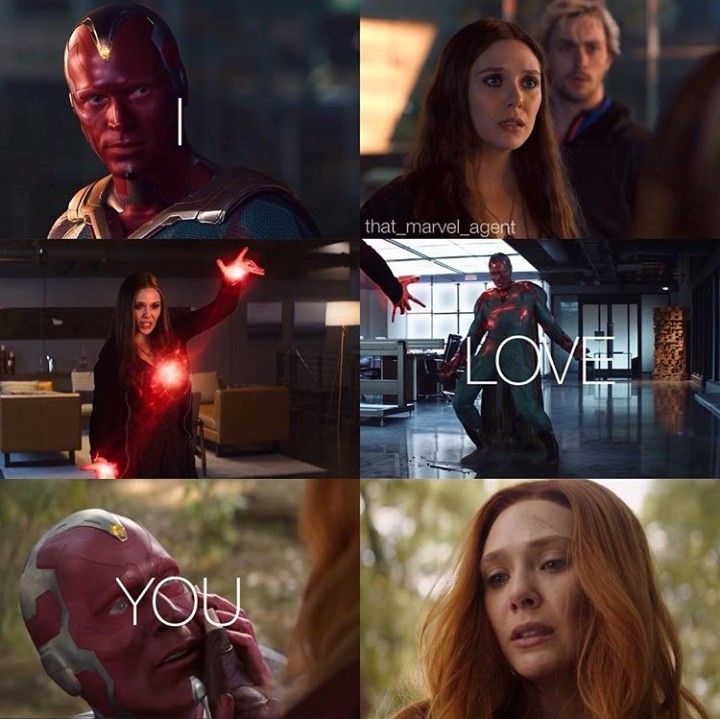 I Love You The Vision Infinitywar Marvel Superheroes Marvel Wanda And Vision