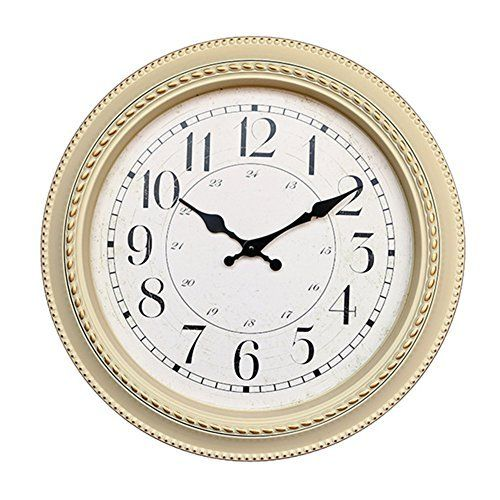 Foxtop 16-inch Ultra-quiet Electronic Wall Clock Classic European-style Round Plastic Wall Clocks Decorative Home Office Merchandise Gifts (Creamy-white)  #16Inch #Classic #Clock #clocks #Creamywhite #Decorative #Electronic #Europeanstyle #Foxtop #Gifts. #Home #Merchandise #Office #Plastic #Round #RusticGrandfatherClock #Ultraquiet #Wall The Rustic Clock