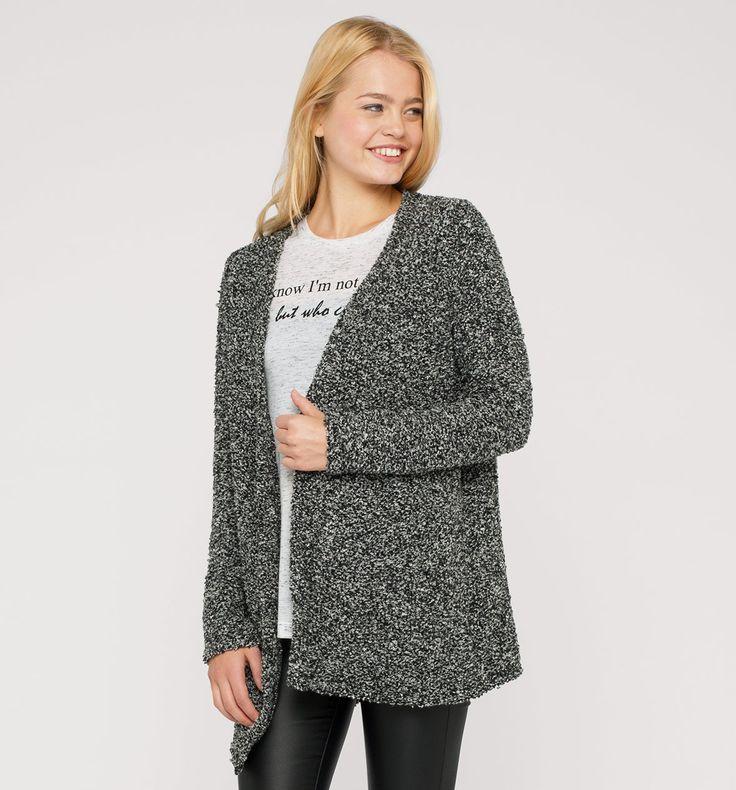 Sklep internetowy C&A | Sweter rozpinany, kolor:  czarny / biały | Dobra jakość w niskiej cenie