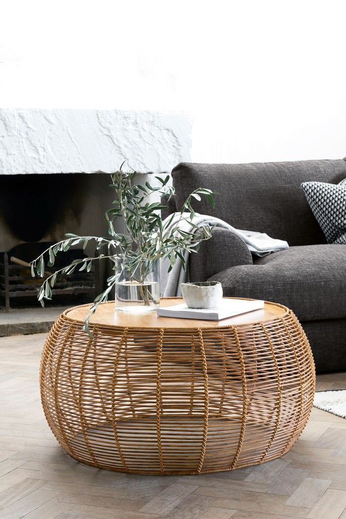 Next Woven Coffee Table Natural Coffee Table Living Room Coffee Table Wicker Coffee Table