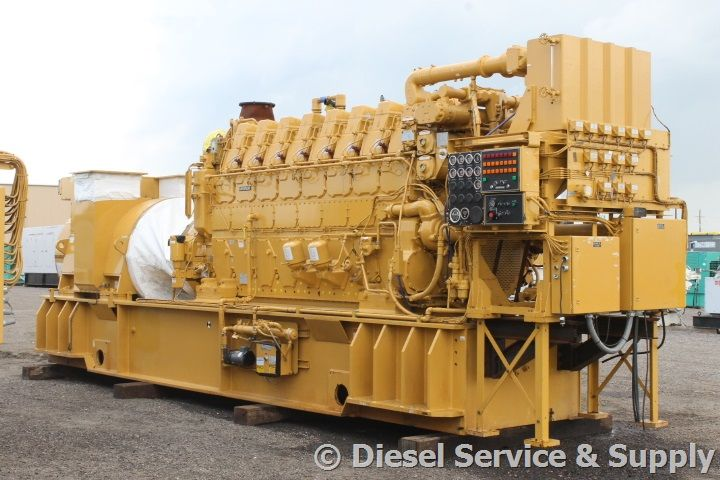 Caterpillar 2250 kw model 3608 diesel used generator sets
