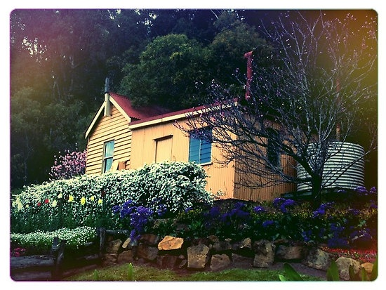 A photo of a old railway house that I took on my iPhone and ran through Snapbucket.