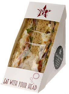 Pret a Manger. More yummy Pret #sandwich #packaging PD