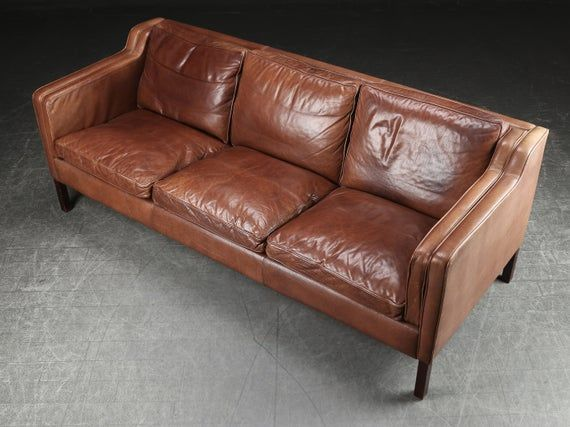 Lovely 3 Seater Vintage Leather Sofa Danish Mid Century Design Cognac Coloured In 2020 Vintage Leather Sofa Vintage Leather Leather Sofa