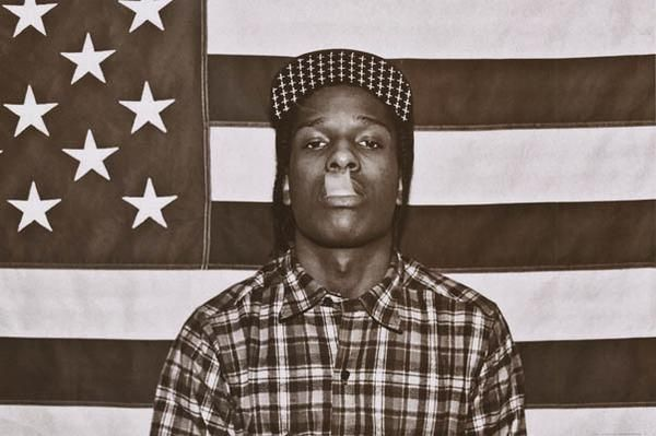 An awesome poster of rapper ASAP Rocky doing a french inhale backed by the American Flag! A$AP Rocky for President! Ships fast. 24x36 inches. Need Poster Mounts