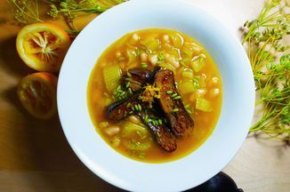 Caramelized Fennel and Lemon Soup with Japanese Eggplant Recipe on Food52 recipe…