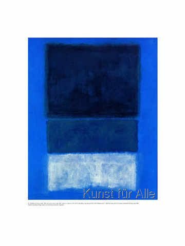 Mark Rothko - No. 14 - White and greens in blue