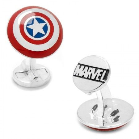 Officially licensed 3D Captain America Shield Cufflinks by Marvel. Available only at CUFFZ.com.au
