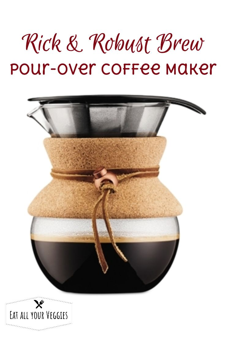 Get a rich, robust cup of coffee in minutes with this pour-over maker  from Bodum. Featuring a mouth-blown 17-oz. carafe and a permanent filter  for less waste, the coffee maker has an ease of use equal to its  outstanding taste. #ad