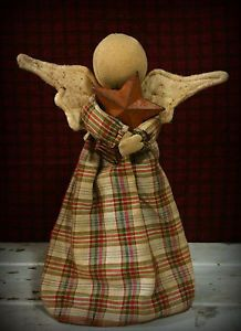 Primitive Winter Prairie Doll Angel Christmas Tree Topper Shelf Sitter                                                                                                                                                                                 More