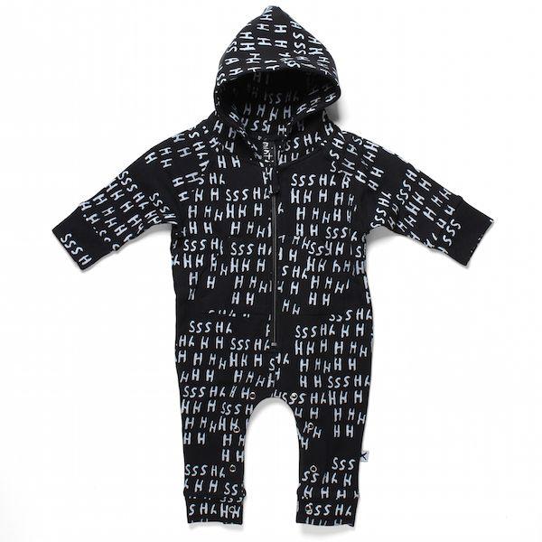 Minti Baby Shhh Ziggy Jumpsuit Black