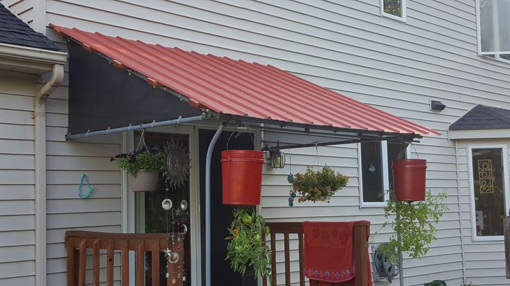 Why spend $1000 on a 8x8 canopy when you can use existing hardware and have this roof for about $120? That's what I did after frustration from canopy companies.