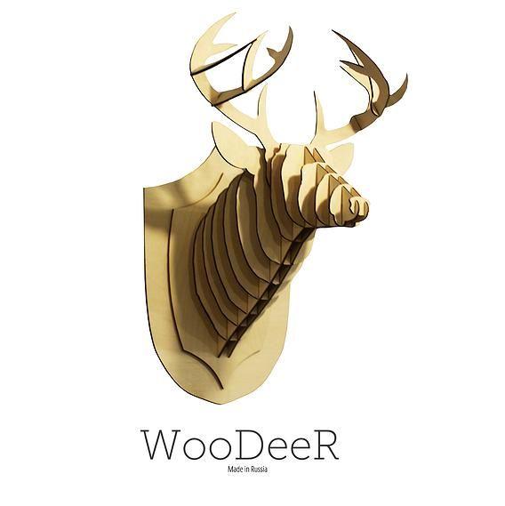 Wooden Deer Trophy cutting by laser (WooDeeR)