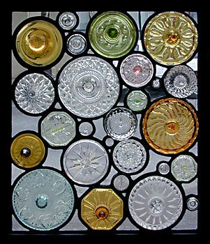 this would be cool as a sky light.Candies Jars, Candies Dishes, Glasses Art, Glasses Windows, Glasses Bottle, Recycle Glasses, Glasses Lids, Cut Glass, Stained Glasses