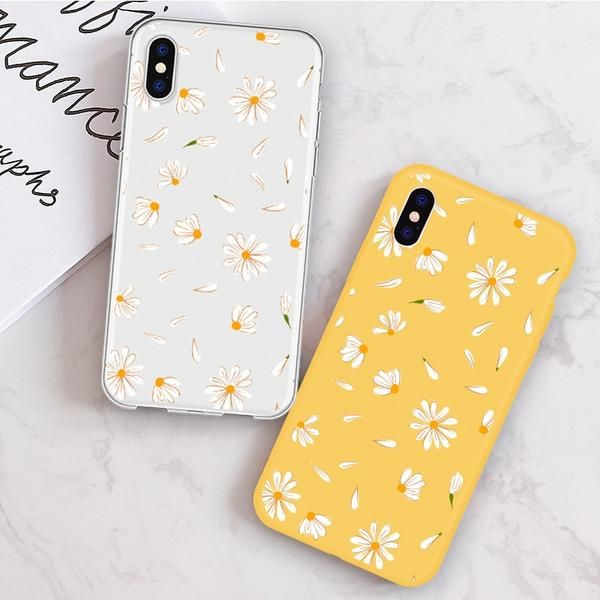 Phone Cases For iPhone X 8 6 7 6 Plus 5S Daisy Cute Flower Candy Color – elega…