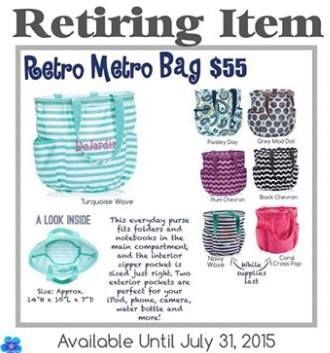 Retro Metro Bag $55, available until July 31, 2015