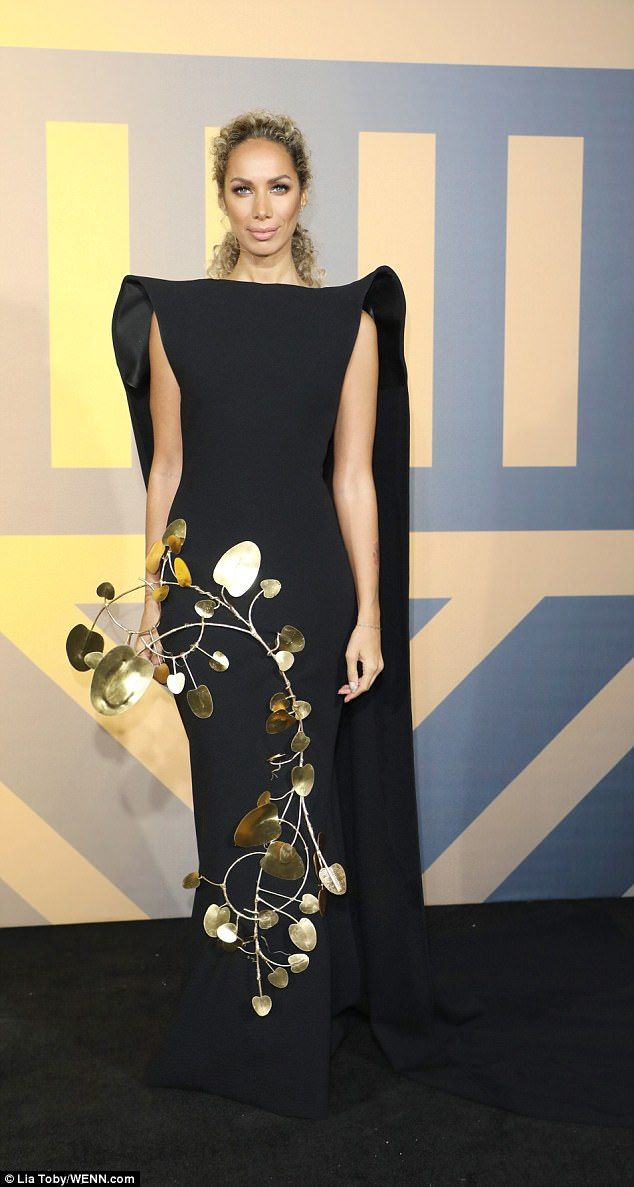 Going for gold: Leona Lewis was showing off her flair for fashion when she attended the Bl...