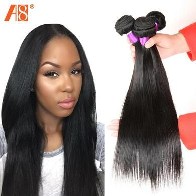Peruvian Virgin Unprocessed Straight Human Hair (3 Bundles)